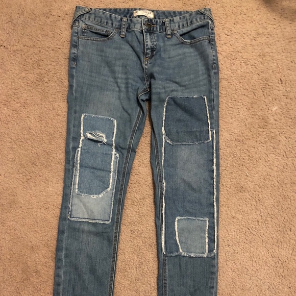 Free People Denim - Free people size 28 patch jeans